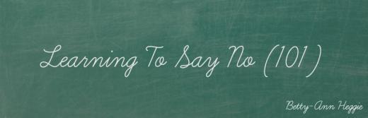 Learning To Say No Blog Thumbnail